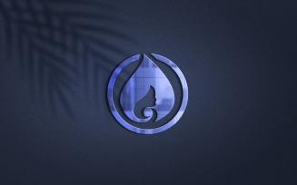 Purple Color Logo Mockup Design With Shadow