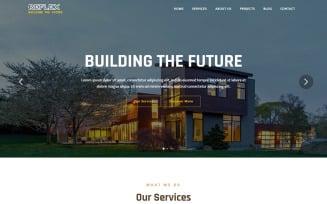 Reflex - Architecture Landing Page Template