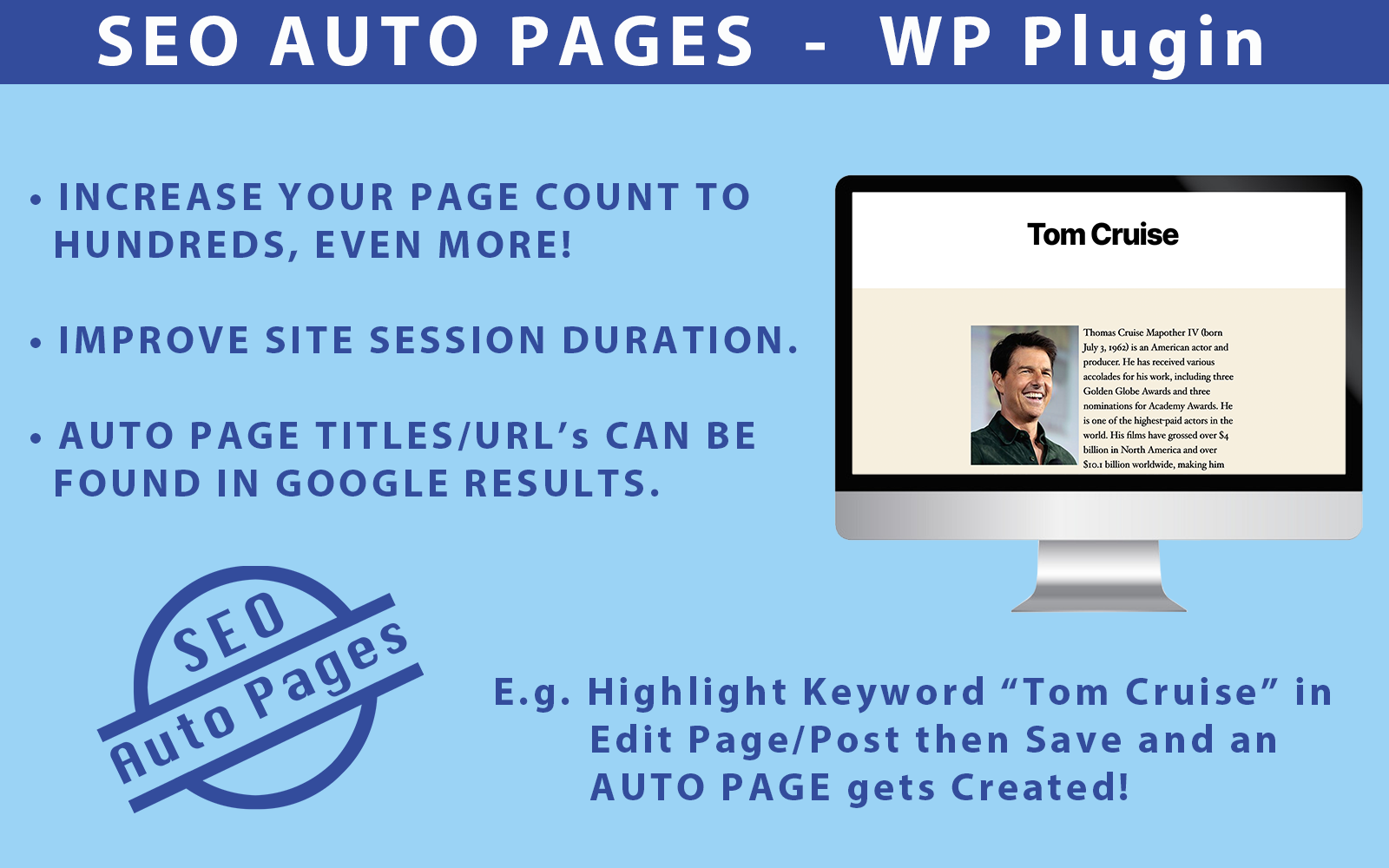 SEO Auto Pages - Wordpress-plug-in