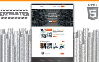 Steeloten Steel Services and Metal Works Shop HTML5 Website Template