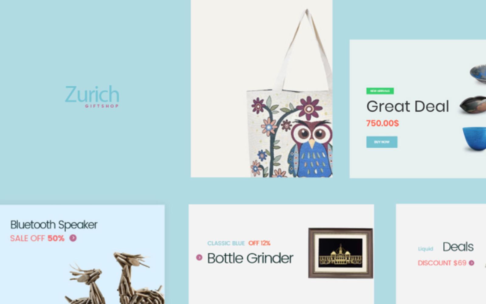 TM Zürich - Cadeaus en souvenirs PrestaShop Thema