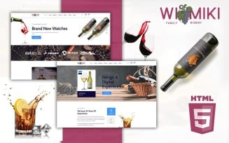Wimiki E-commerce Wine Store HTML5 Website Template