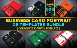 Business Card portrait Templates Bundle - Corporate Identity Template
