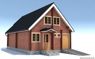 Wooden House High Poly 3d Model