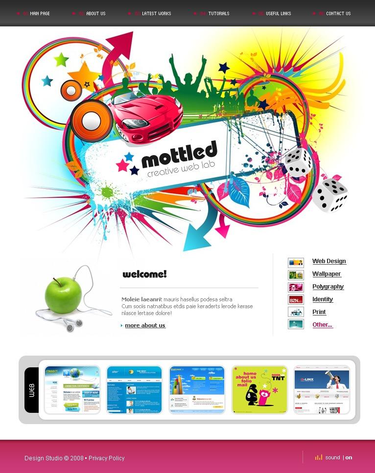 Tema flash 18692 per un sito di web design for Design sito