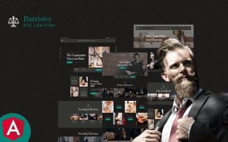 Barrister Lawyer & Attorney Angular Js Template