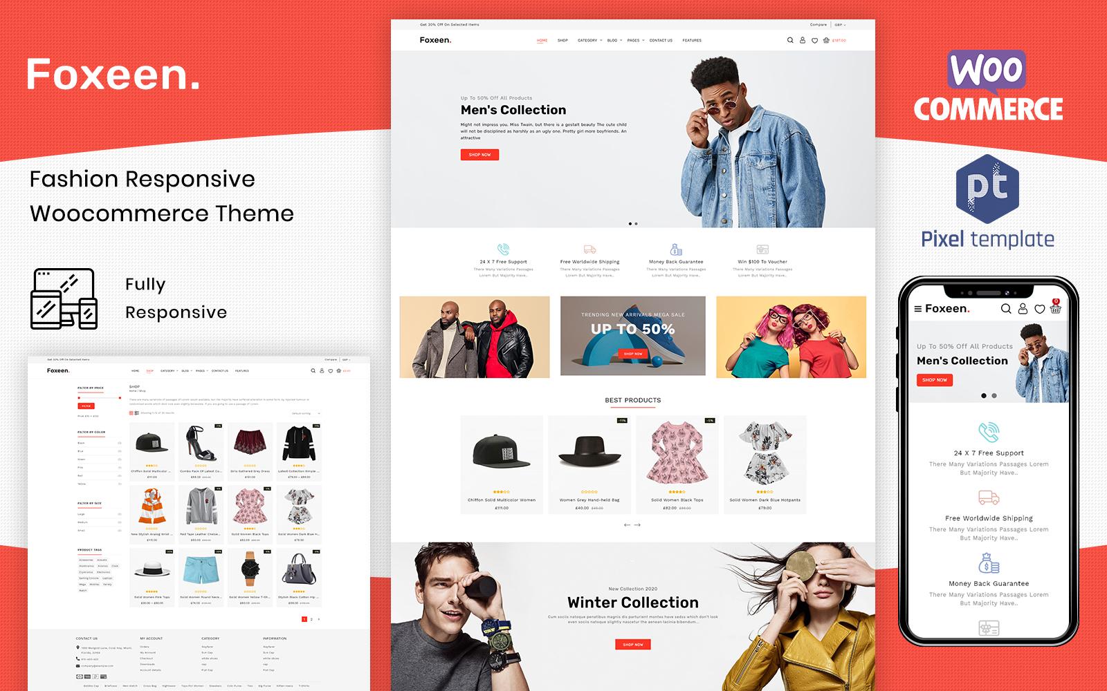 Foxeen - Multifunctioneel eCommerce WooCommerce-thema The