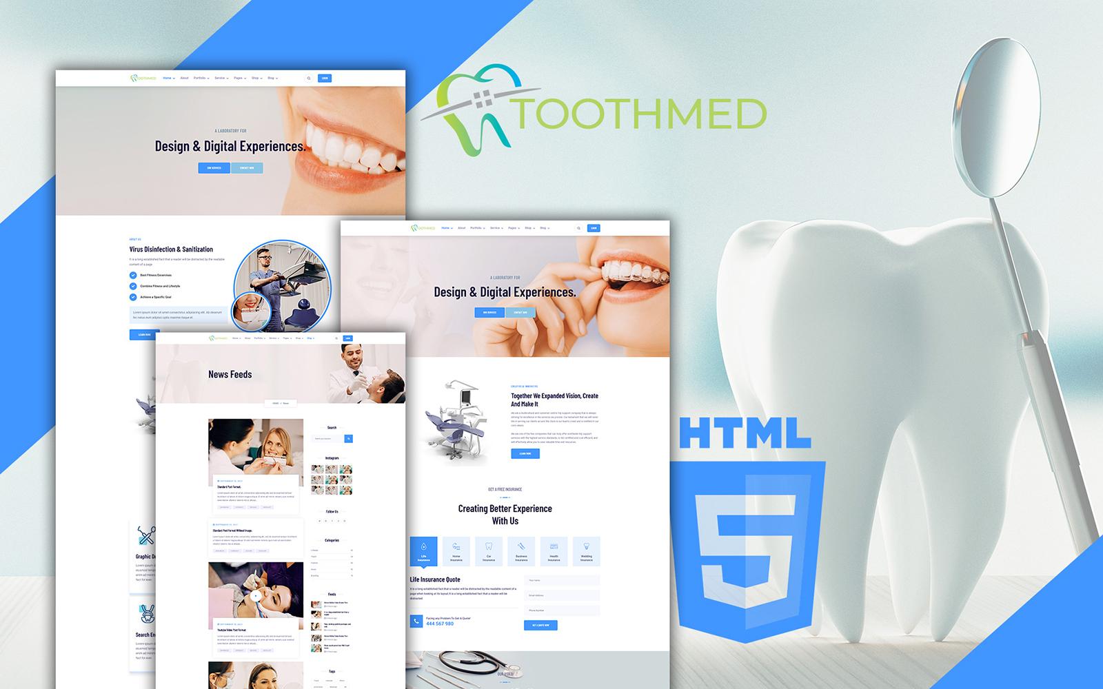 Toothmed - Tandläkarklinik HTML-mall