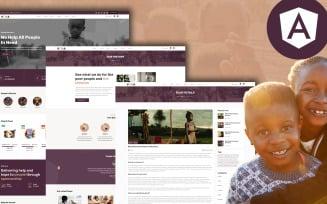 Vima Charity and Donation Organization Angular JS Template