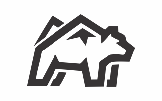 Peak Bear Abstract Logo Template