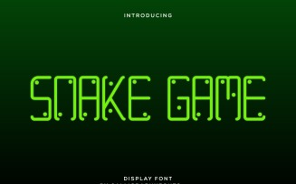 Snake Game Exclusive Display Font