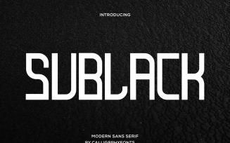 Sublack Display Sans Serif Font