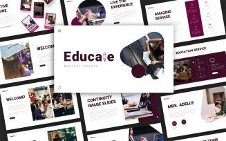 Educale Education Presentation PowerPoint Template