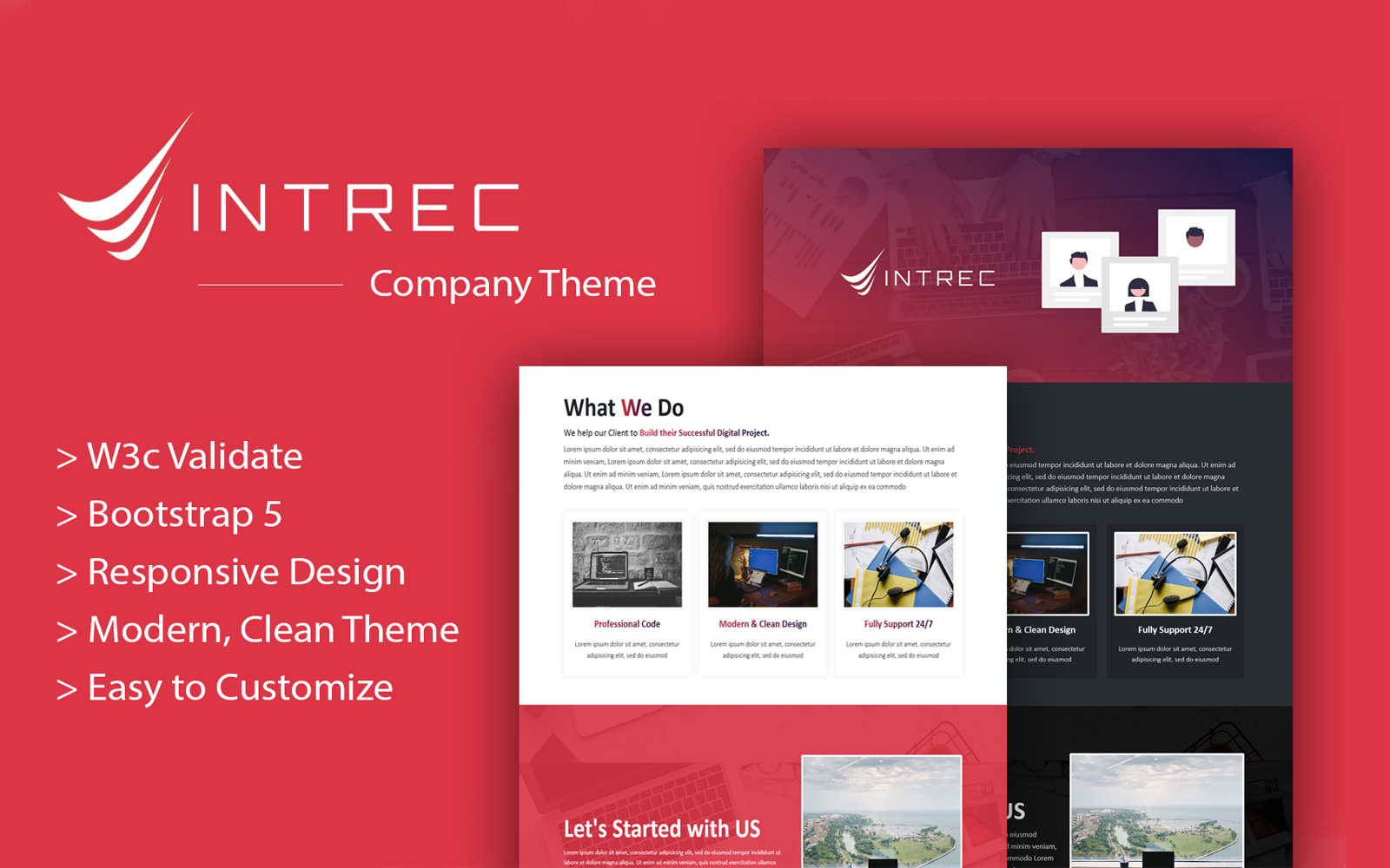 Intrec - Startup Multipurpose Bootstrap 5 Landing Page Templates