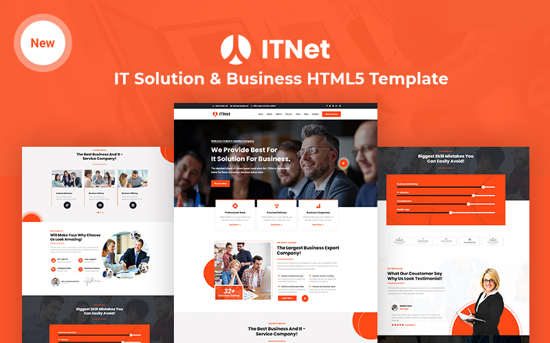 ITnet - IT Solution and Business Responsive Website Template