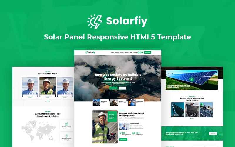 Solarfiy - Solar Panel Responsive HTML5 Website Template