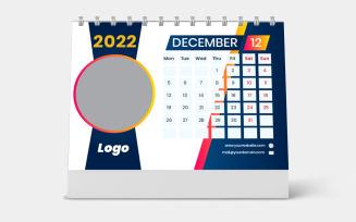Desk Calendar 2022 Template Week Starts Monday
