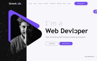 Growtech Personal Portfolio Landing Page Template