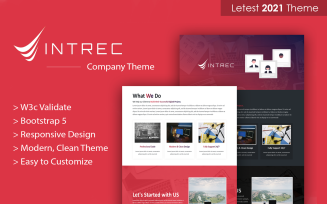 Intrec - Startup Multipurpose Bootstrap 5 Landing Page Template