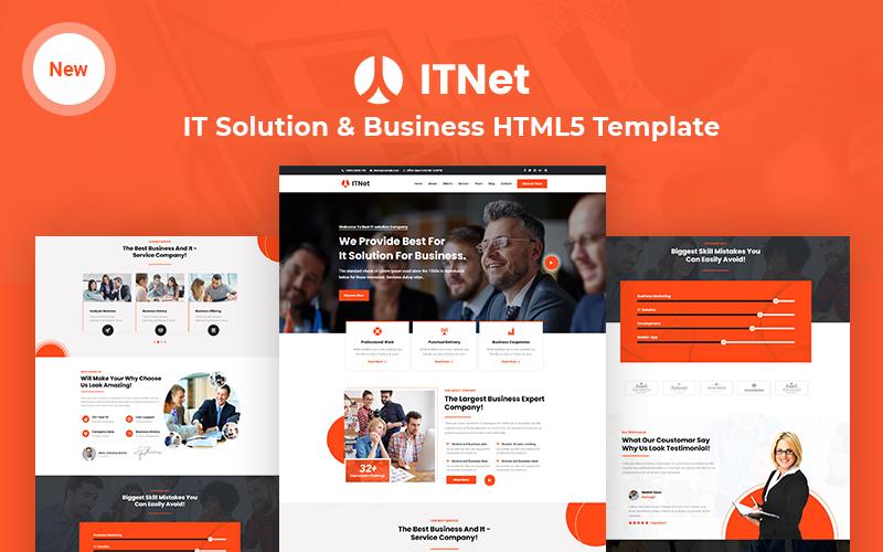 ITnet - Sjabloon voor IT-oplossing en bedrijfsresponsieve website