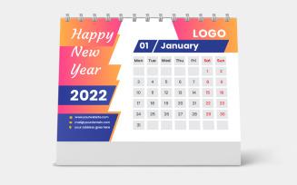 Large Desk Calendar 2022 Template