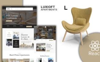 Luxloft - Modern Apartment React Website template