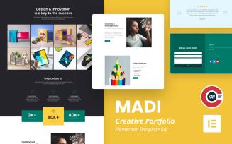 Madi - Creative Portfolio Elementor Kit