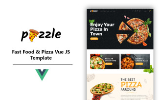 Pizzle - Fast Food and Pizza Vue Js Template