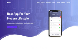 Ures - App HTML Landing Page Template