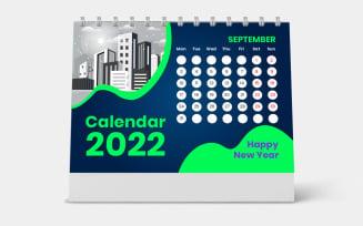 Desk Calendar 2022 Design Week Monday on Sunday