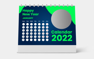 Green Cover Desk Calendar 2022 Design