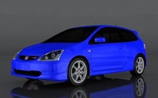 2004 Honda Civic Type R 3d model
