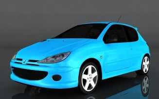 2004 Peugeot 206 RC 3d model