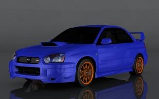 2004 Subaru Impreza WRX 3d model