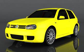 2003 Volkswagen Golf R32 3d model