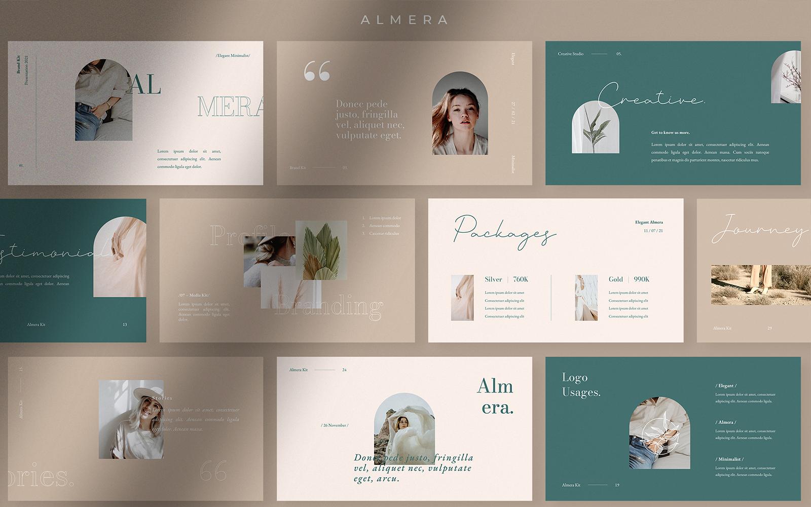 Almera - Brand Kit Presentation PowerPoint Template