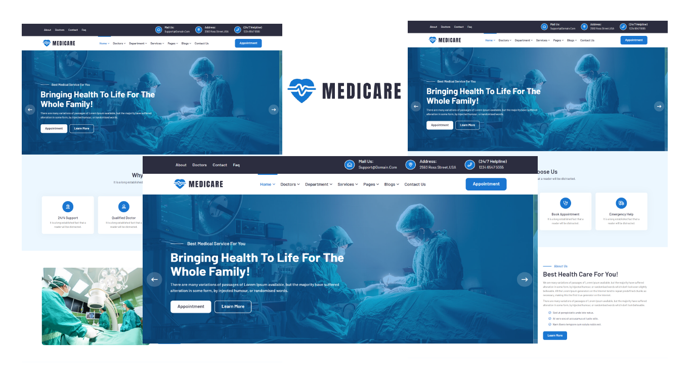 Medicare - Medical and Doctor Bootstrap 5 HTML5 Template