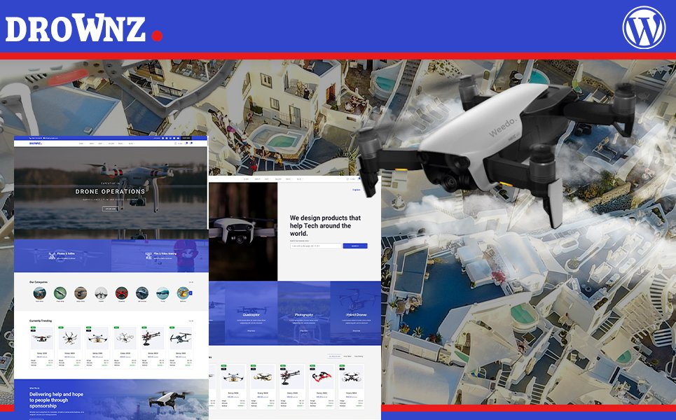 Drownz Drone Photography & Drown Shop WooCommerce Thema