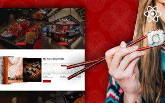Fattsushi – Japanese Sushi Restaurant React JS Template