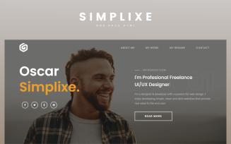 Free Simplixe Personal Portfolio Landing Page Html
