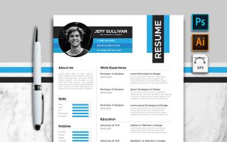 Jeff Sullivan Web Developer And Designer Minimalist Resume Template
