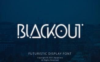 Blackout - Futuristic Display Font