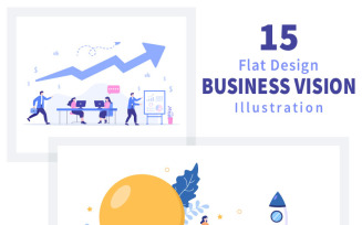 15 Business Vision And Target Illustration