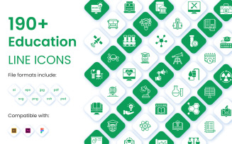 190+ Education Icons Pack