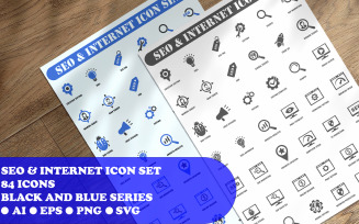 SEO and Internet Icon Set template