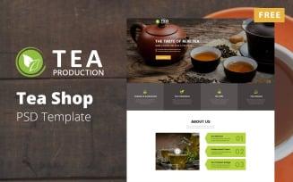 TEA Production - Free Tea Shop PSD Template