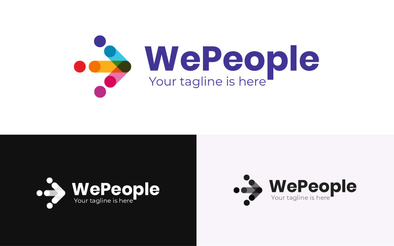 WePeople Logo design Template Logo Template
