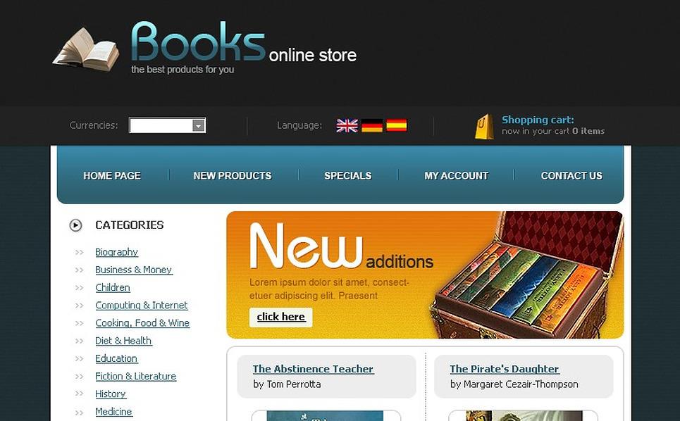 Tema oscommerce per un sito di libri for Sito per acquistare libri