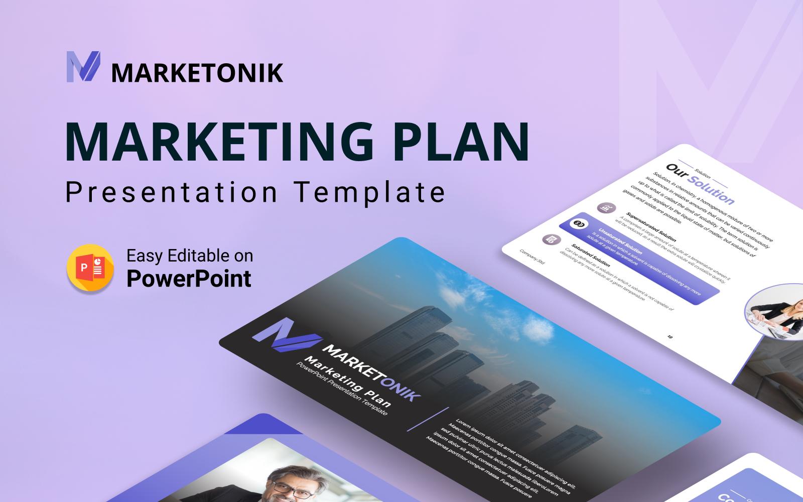 Marketonik – Marketing Plan PowerPoint Presentation Template