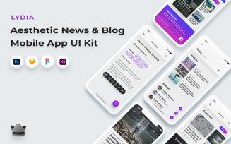 Lydia - News And Blogging App UI Kit